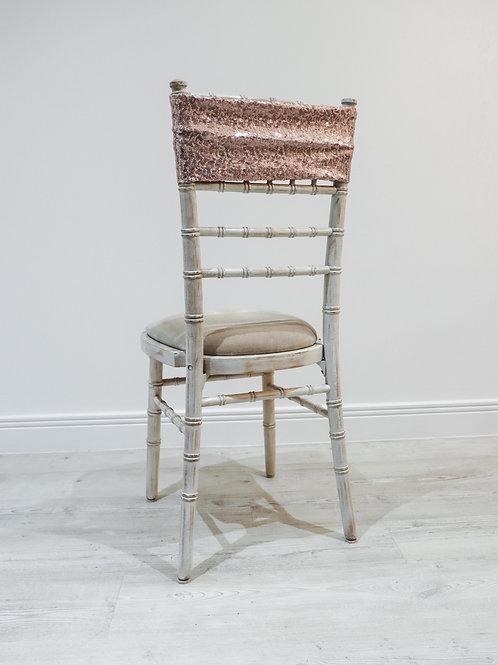 Blush Sequin Chair Band
