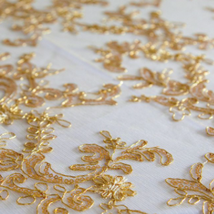 Gold Sequin Lace Tablecloth