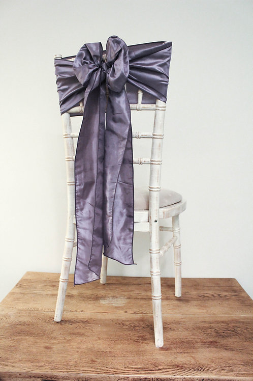 Ultraviolet Taffeta Chair Bow