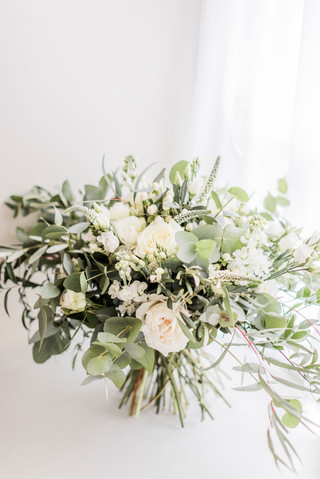 Wild White and Green Bouquet