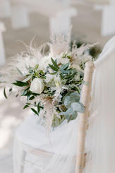 Green & White Bouquet with Dried Elemends