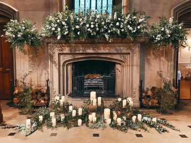 Fireplace at Matfen Hall