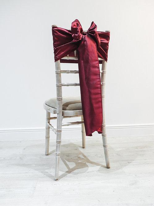 Burgundy Taffeta Chair Bow
