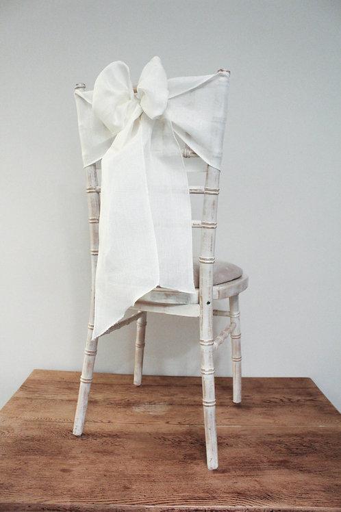 Ivory Linen Chair Sash