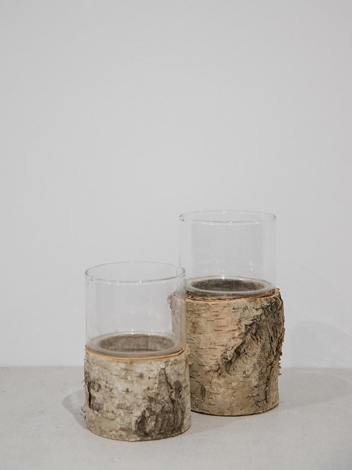 Wooden Glass Vases