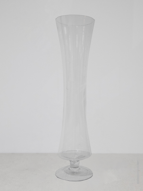 Glass Tall Footed Vase