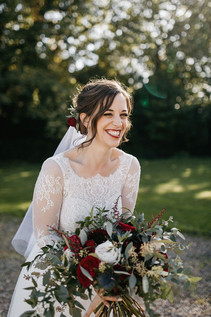 Burgundy Wedding Bouquet Ellingham Hall