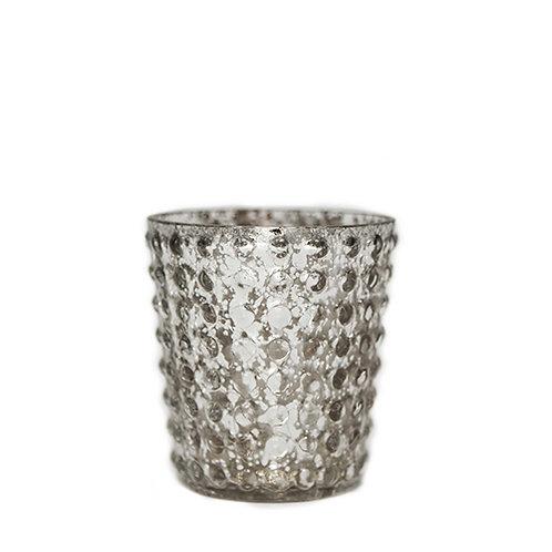 Silver Bobbled Tealight