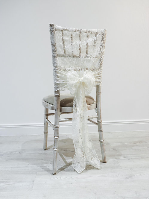 Ivory Lace Chair Cap