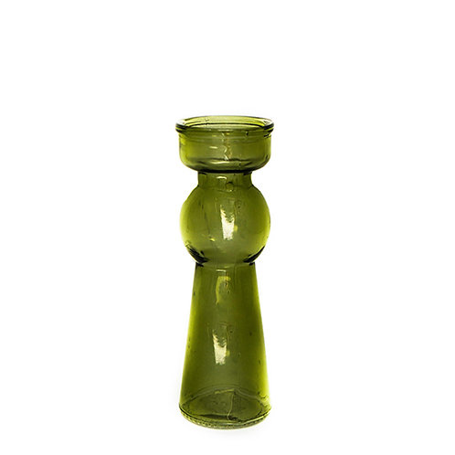 Green Glass Tall Tealight