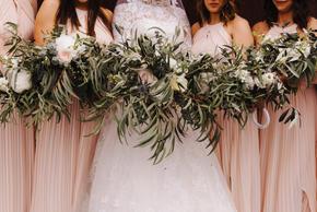 Bridesmaids with Hair Circlets