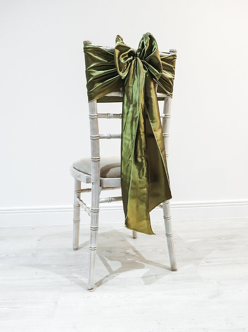 Moss Taffeta Chair Bow
