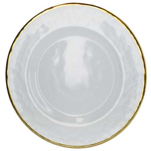 Glass Charger Plate with Gold Trim