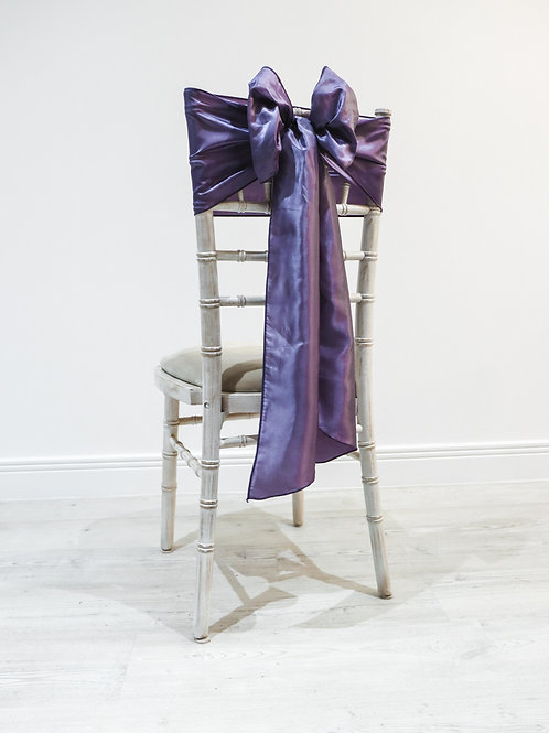 Purple Taffeta Chair Bow