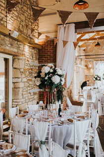 Tall Centrepiece Farm Wedding