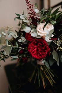 Tess David Austin Rose Bouquet Ellingham Hall