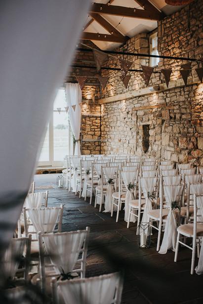 Wedding Ceremony White Chiffon Drops