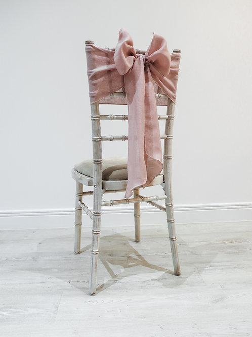 Pink Linen Chair Sash