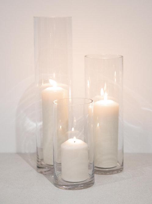 Cylinder Vase Trio - Pillar Candles
