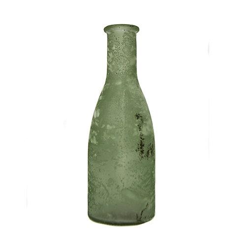 Vintage Weathered Bottle - Green