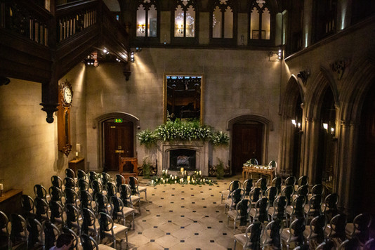 Matfen Hall Fireplace Arrangement