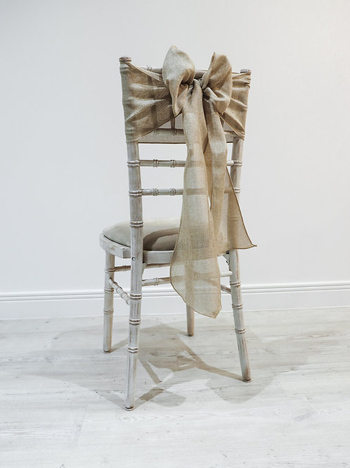 Natural Linen Chair Sash