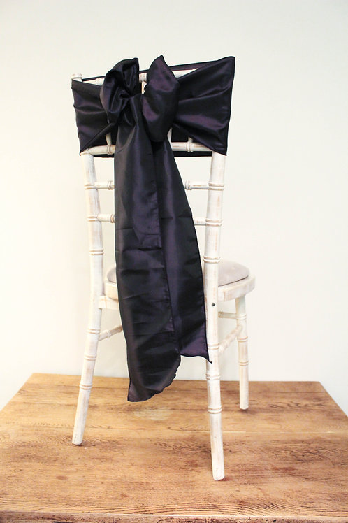 Plum Taffeta Chair Bow
