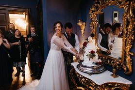 Wedding Cake Cutting Ellingham Hall
