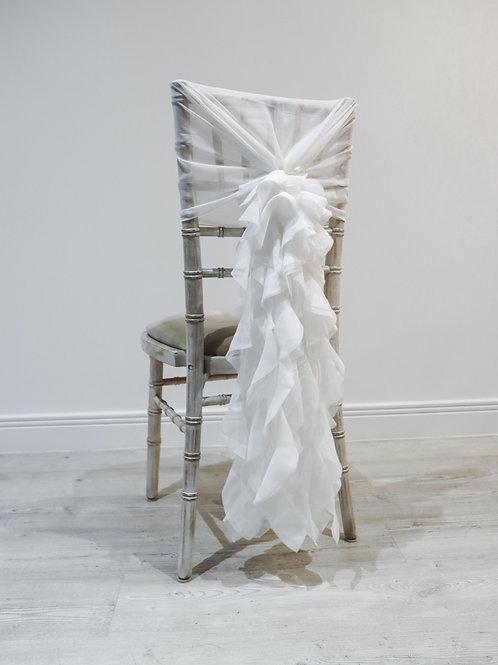 White Waterfall Chair Backs