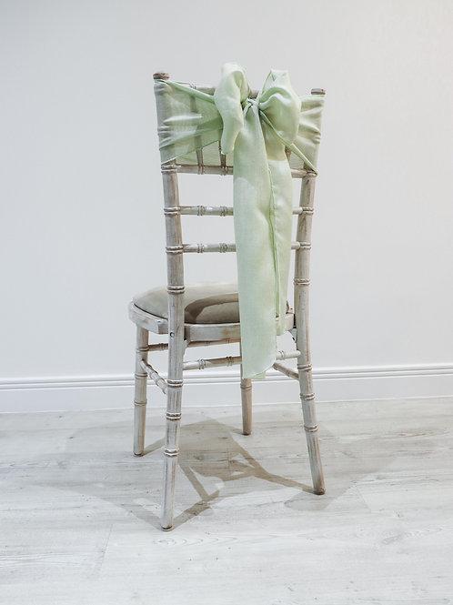 Sage Linen Chair Sash