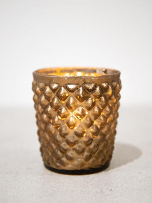 Bronze Bobbled Tealight