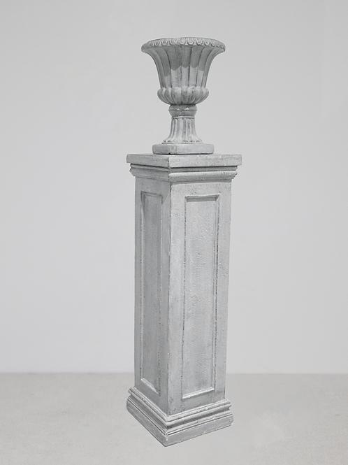 Grey Stone Pedestal & Urn