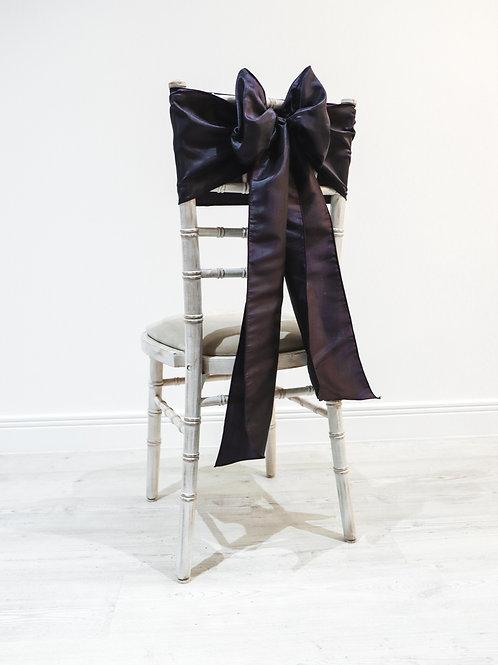 Plum Taffeta Chair Bow