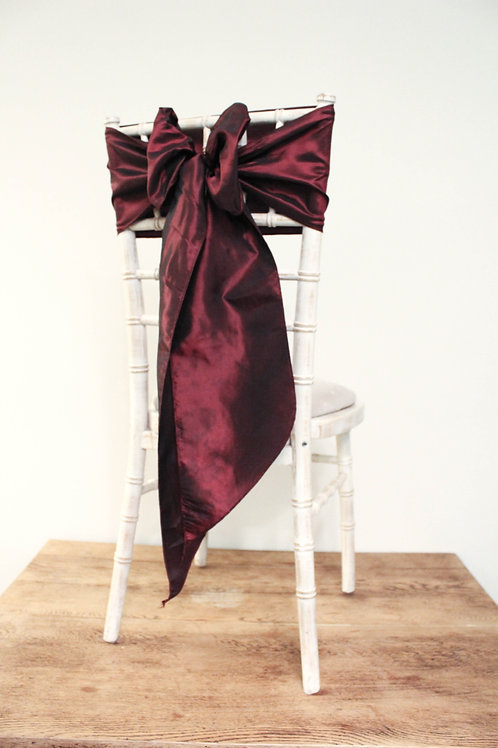 Garnet Red Taffeta Chair Bow