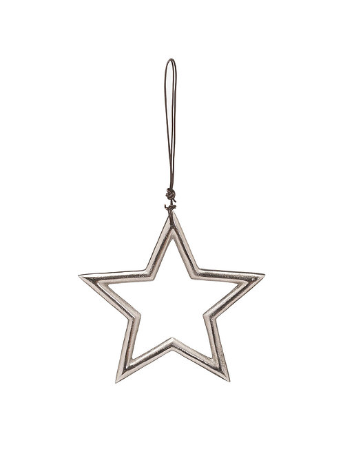 Silver Star Hanging Ornament