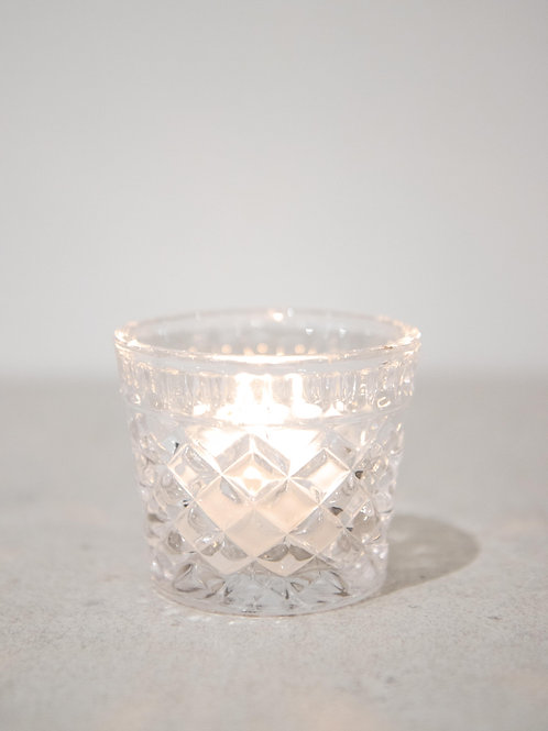 Pressed Glass Tealight