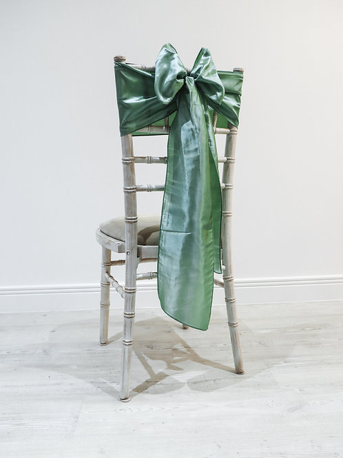 Sage Taffeta Chair Bow