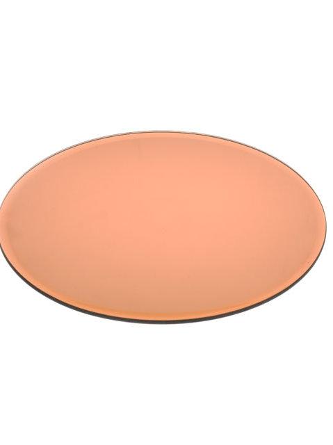 Mirrored Copper Centrepiece Plate - Medium