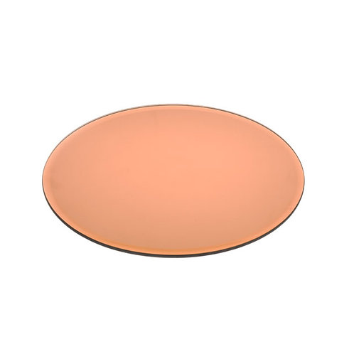 Mirrored Copper Centrepiece Plate - Medium