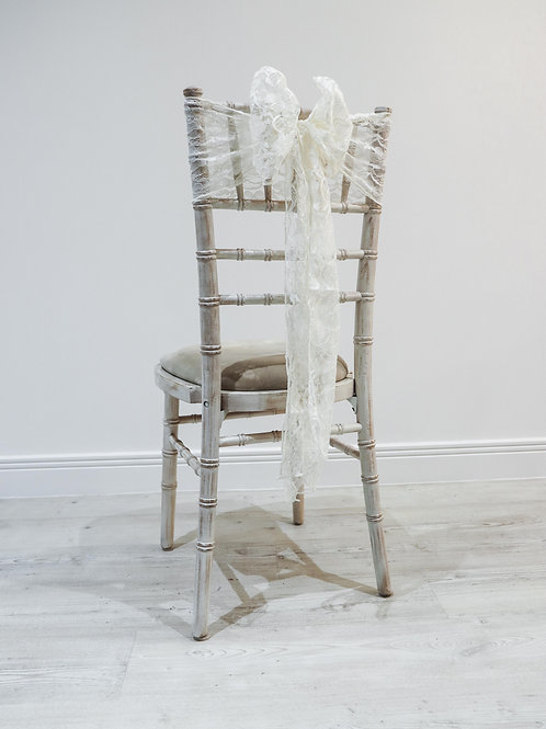 Ivory Lace Chair Bow