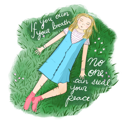 """""""If you own your breath, no one can steal your peace."""""""