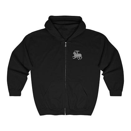 Baphomet's Illumitation on Earth zip hooded sweatshirt