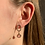 Thumbnail: oorbellen goud - rose