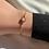 Thumbnail: armbandje goud met parel rose