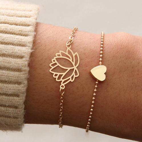 armbandjes hartje of lotus