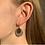Thumbnail: oorbellen goud - wit