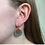 Thumbnail: oorbellen goud, groen