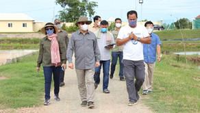 カンボジア農業大臣が養殖場を視察