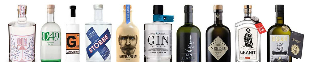 Das aktuelle Gin-Sortiment in der Private Tasting Box
