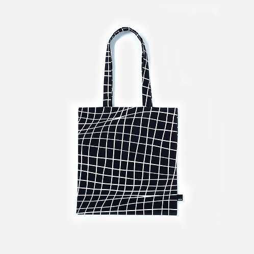 Folded grid paper BLACK - Tote bag